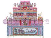 【大堂人本】傳統特製系列-加大三樓花園洋房(紙紮) (另有客製化紙紮)