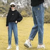 女童牛仔褲秋冬2020春秋新款長褲兒童中大童寬鬆加絨褲子洋氣外穿  【端午節特惠】