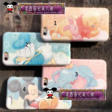 米奇 維尼 小飛象朦朧 甜蜜夢鄉iphone6S/6S plus軟殼  -upcu0030018