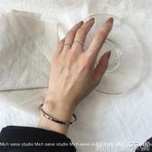 冷淡風手鐲女光面開口鈦鋼時尚學生日韓百搭韓版簡約  MOON衣櫥