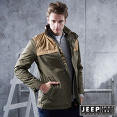 【JEEP】休閒野練鋪棉立領夾克 (橄欖綠)