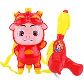 抽拉式豬豬俠背包水槍 男女孩高壓噴射沙灘戲水玩具 寶寶新款卡通 兒童玩具
