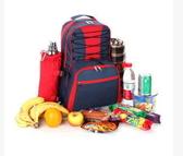 野餐包 含2人餐具組-外出雙肩食品容納大空間設計感雙肩後背包68ag23【時尚巴黎】