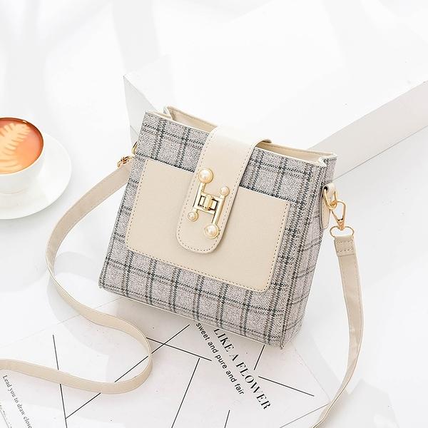 斜背包 小包包女新款潮韓版時尚網紅質感斜背女包簡約百搭側背水桶包  新品