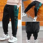 童裝男童加絨加厚長褲子秋冬裝運動潮新款韓版中大兒童一體絨 快速出貨 快速出貨