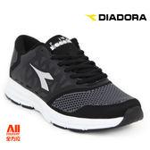 【Diadora 迪亞多那】男款休閒慢跑鞋  寬楦 -黑白(D6720) 全方位跑步概念館