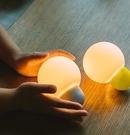 小夜燈 小燈泡無線充電便攜燈智能硅膠小夜燈嬰兒喂奶護眼led燈