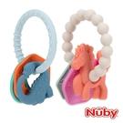 Nuby 矽膠手環固齒器-恐龍/獨角獸【佳兒園婦幼館】