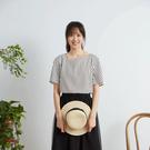 8happy // 個性造型領子條紋上衣