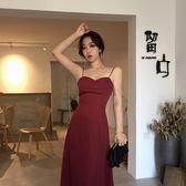 露背洋裝新款性感交叉綁帶修身顯瘦中長款時尚連衣裙 JD5311【3C環球數位館】