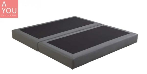 貝多芬6 尺黑皮二抽雙人床(大台北地區免運費)【阿玉的家2020】