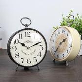 鬧鐘創意靜音學生床頭 歐式復古金屬鬧鐘台鐘簡約小鬧鐘時尚個性 童趣潮品