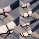 女高跟涼鞋020年新款2020年跟細跟春夏好看漂亮耐磨露趾 果果輕時尚