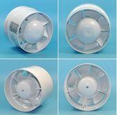 勞芳4寸排氣扇圓形衛生間換氣扇小型家用靜音110PVC管道排風扇100 藍嵐