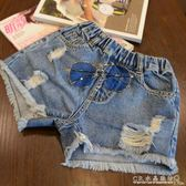 童裝夏裝女童牛仔短褲中大童韓版潮破洞熱褲兒童百搭洋氣褲子 『CR水晶鞋坊』