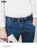 皮帶 小細皮帶男潮人細窄款腰帶針扣褲帶學生港風青年正韓百搭簡約復古