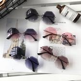 時尚切邊韓版潮近視防紫外線防曬太陽眼鏡