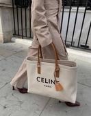 ■專櫃78折■ 全新真品■Celine 印花帆布及小牛皮橫式CABAS 手袋