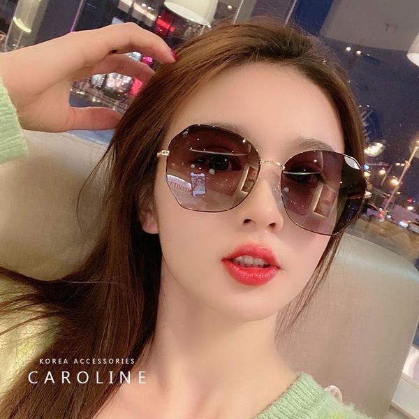 《Caroline》韓系質感熱門款ins太陽眼鏡網紅同款潮流太陽眼鏡72353