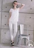 【2%】2% twopercent 微透氣質雪紡上衣-白