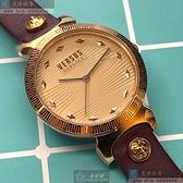 VERSUS VERSACE凡賽斯女錶36mm香檳紅錶面玫瑰金色錶帶