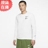 【現貨在庫】Nike Sportswear Swoosh 男裝 長袖 薄款 休閒 純棉 白【運動世界】CK2260-100