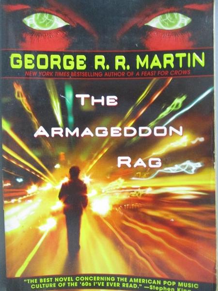 【書寶二手書T7/原文小說_QJR】The Armageddon Rag_Martin, George R. R.