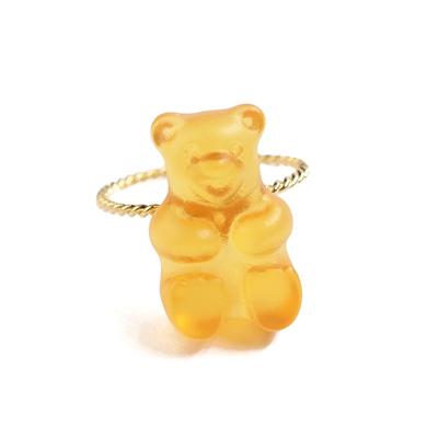 〔APM飾品〕日本gargle 美妙滋味熊熊軟糖戒指 (柳橙口味) (萬聖節限定色)