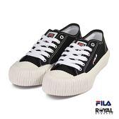 FILA 新竹皇家 4-C320T-001 黑色 布質 紋路底 休閒鞋 男女款 No.B0357