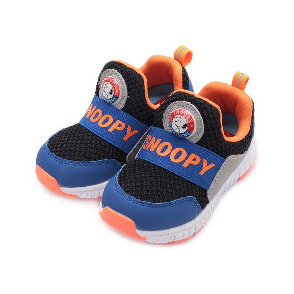 SNOOPY 史努比套式電燈休閒鞋 藍橘 SNKX95120 中童鞋 鞋全家福