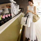 雪紡波西米亞素色無袖洋裝連身裙