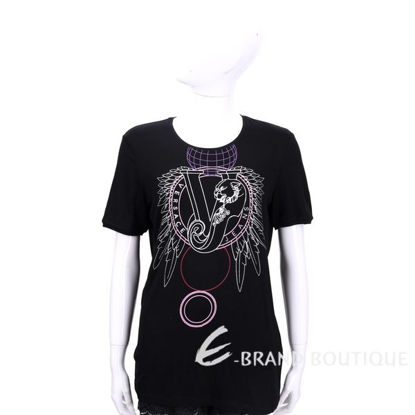 VERSACE 黑色LOGO圖騰設計短袖上衣 1540268-01