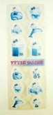 【震撼精品百貨】Hello Kitty 凱蒂貓~KITTY貼紙-透明藍-CANDY