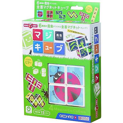 《 日本 EyeUp 》六面磁力拼圖(昆蟲)╭★ JOYBUS玩具百貨