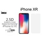【免運】imos 2.5D全透明美觀半版玻璃螢幕保護貼 iPhone XR (6.1吋) 美商康寧公司授權