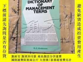 二手書博民逛書店A罕見Dictionary of Management Term