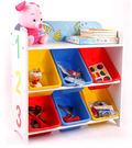 *幼之圓*我的ABC.123六層玩具收納架~六格收納箱 玩具收納櫃 雜亂先生的家