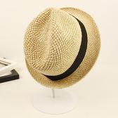 禮帽春夏季男女度假爵士帽海邊出游沙灘帽可折疊草帽子 野外之家