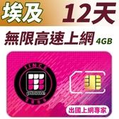 【TPHONE上網專家】埃及 12天無限上網 前面4GB支援4G高速