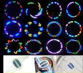 自行車燈夜騎配件風火輪山地車輻條燈七彩閃光輪胎甩燈車輪裝飾燈-享家生活館