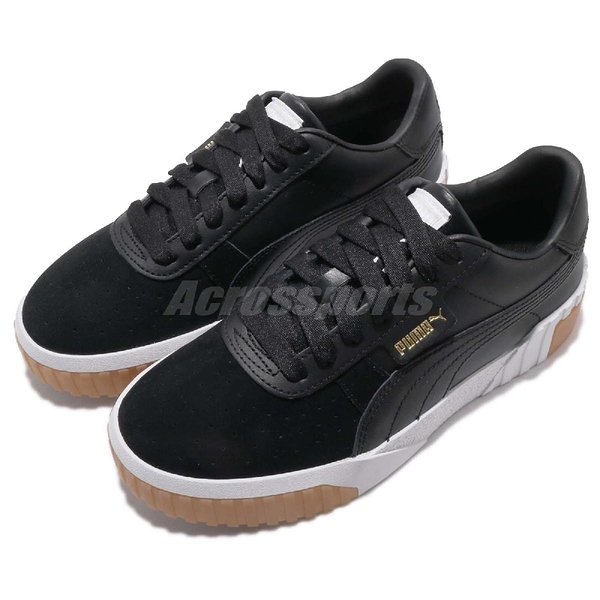 Puma 休閒鞋 Cali Exotic Wns 黑白 膠底 皮革 明星款 女鞋 【ACS】 36965303