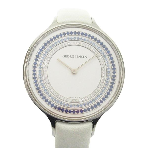 GEORG JENSEN 喬治傑生 Concave Deluxe 101 Sapphires 限量版寶石鑽錶 【BRAND OFF】