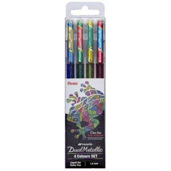 【金玉堂文具】Pentel 飛龍牌 K110-4ST1蝴蝶筆4色/組 彩繪筆 限量新色組合