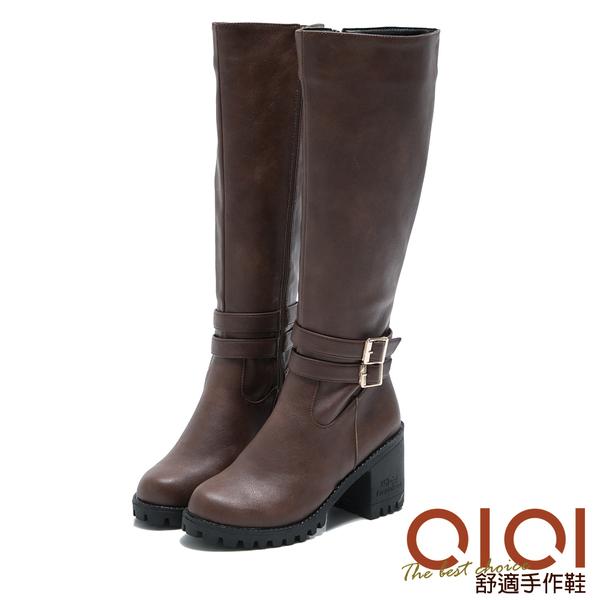 長靴 率性俐落騎士風長筒靴(咖) *0101shoes【18-1710co】【現貨】