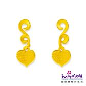 威世登 黃金心型貼耳耳環 金重約0.80~0.83錢(含黃金耳束) 送禮推薦 生日 情人節 GJ00132F-EEX-EHX