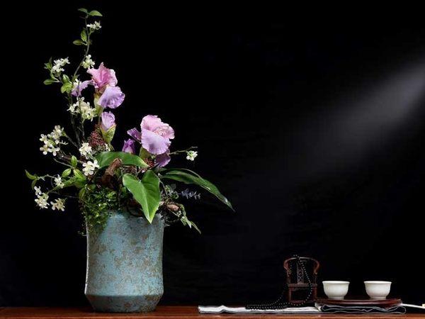 模擬花套裝花藝 客廳玄關假花幹花裝飾品商業插花- 12950048