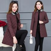 大尺碼外套 2018新款輕薄棉衣女中長款修身韓版大碼冬季外套