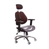 GXG 高背網座 雙背椅(鋁腳/摺疊升降扶手)TW-2802 LUA1訂購後備註顏色
