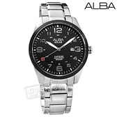 ALBA / AS32-X018D.AX3005X1 / 台灣限定 環保太陽能 藍寶石水晶玻璃 防水100米 不鏽鋼手錶 黑色 39mm