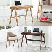 【水晶晶家具/傢俱首選】SY1203-3歐巴馬120cm實木腳A字雙抽書桌~~雙色可選